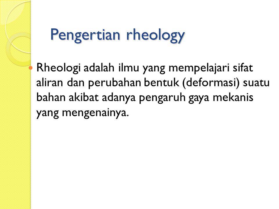 Pengertian rheology