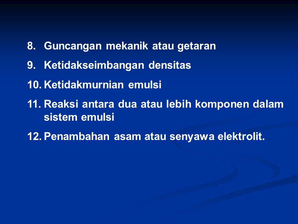 8. Guncangan mekanik atau getaran