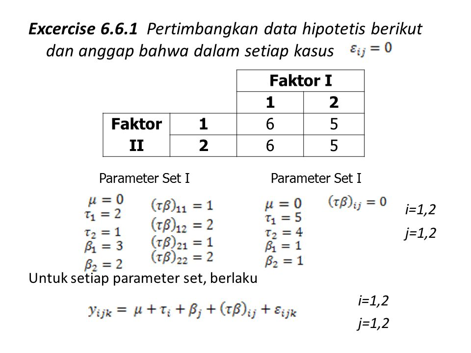 Excercise 6.6.1 Pertimbangkan data hipotetis berikut dan anggap bahwa dalam setiap kasus