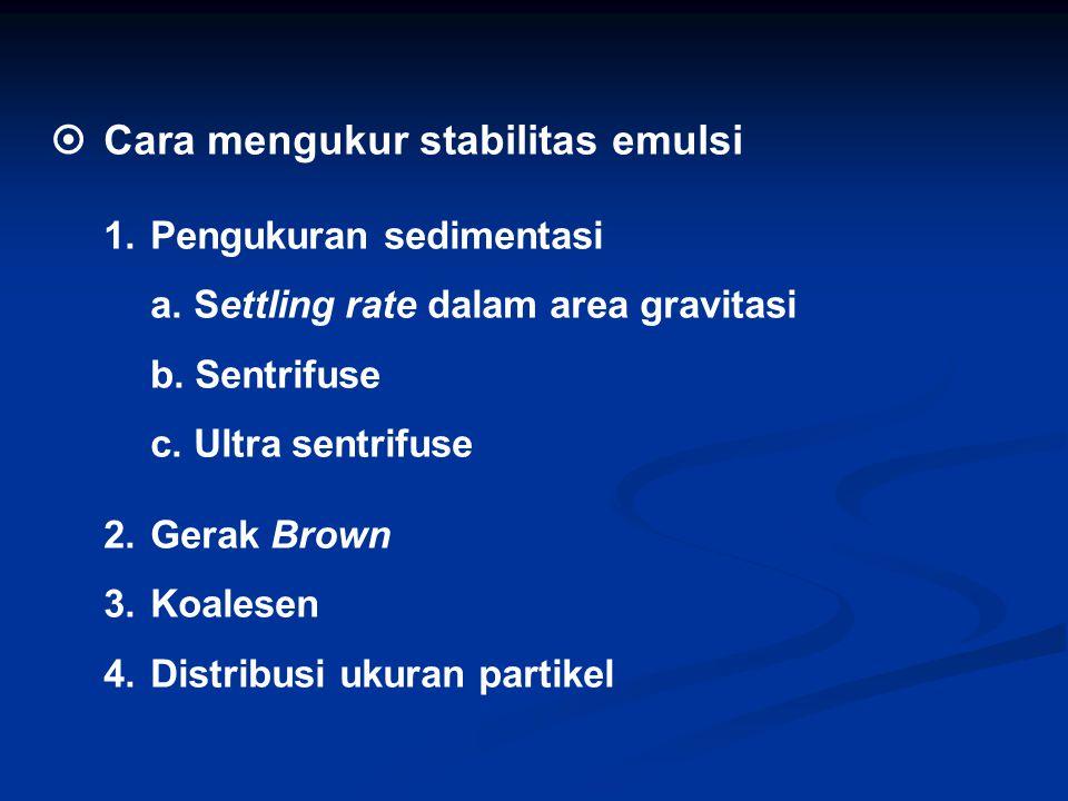  Cara mengukur stabilitas emulsi