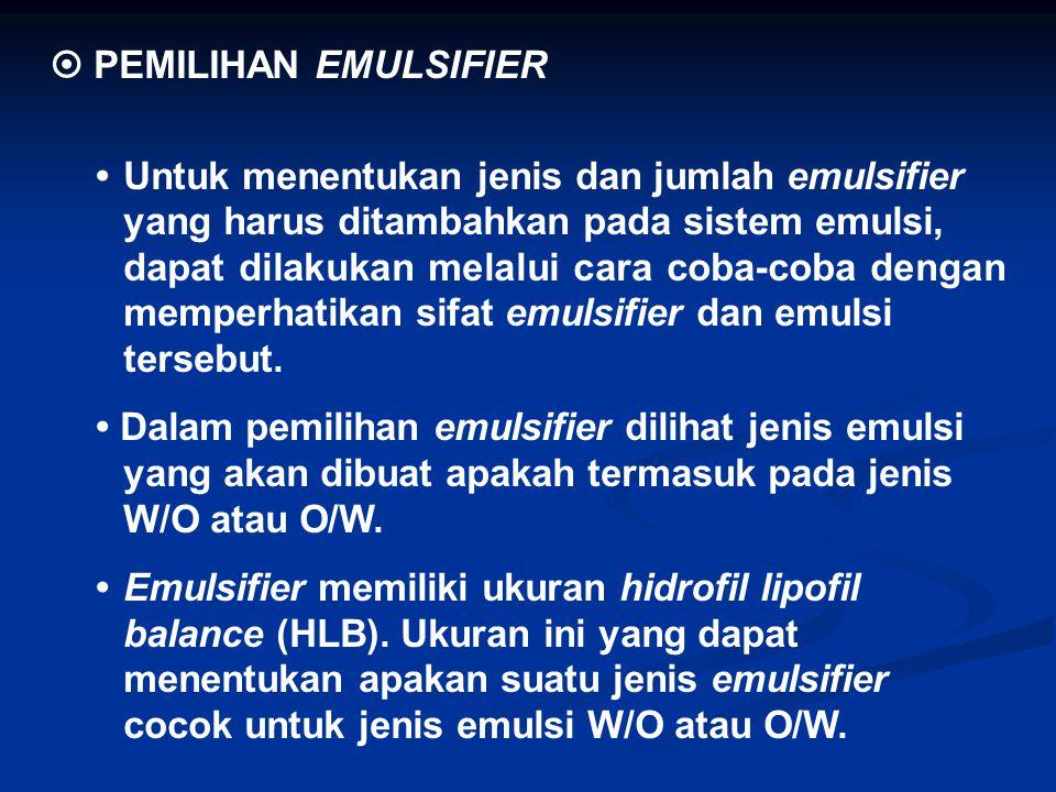  PEMILIHAN EMULSIFIER