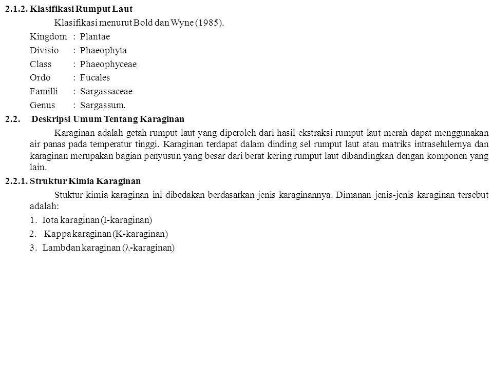 2.1.2. Klasifikasi Rumput Laut