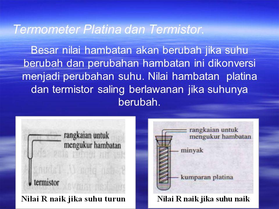 Termometer Platina dan Termistor.