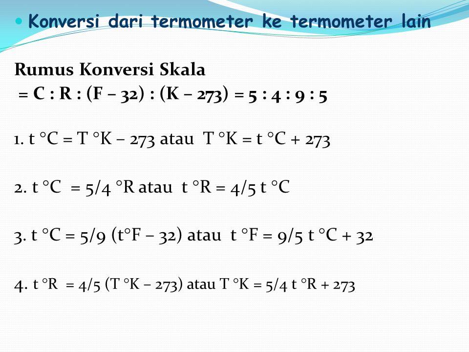 Konversi dari termometer ke termometer lain