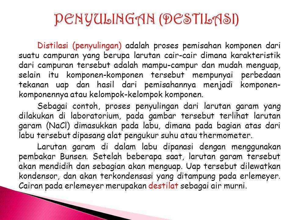 PENYULINGAN (DESTILASI)