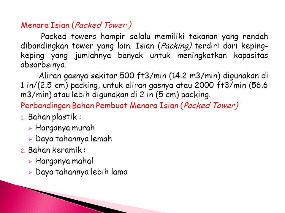 Menara Isian (Packed Tower )
