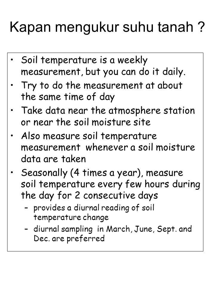 Kapan mengukur suhu tanah