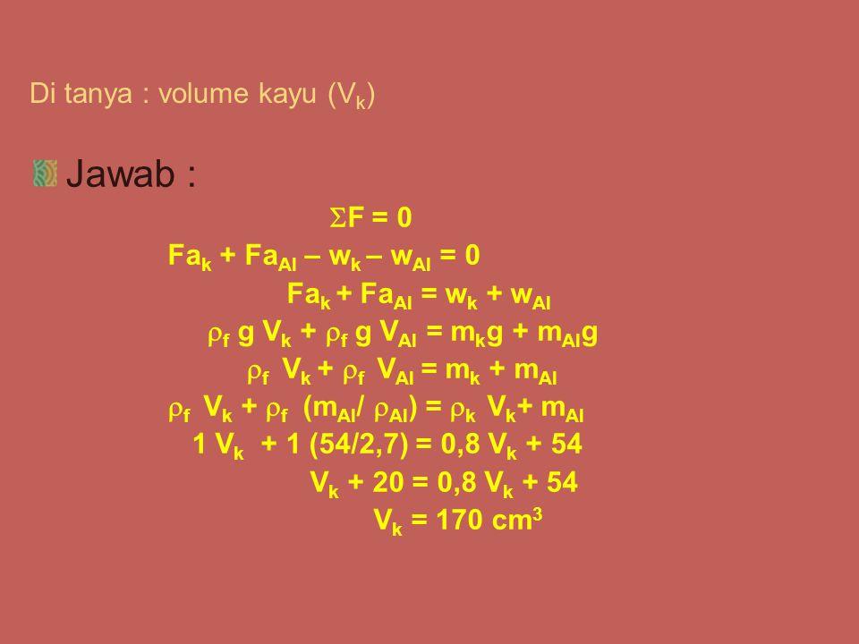 Di tanya : volume kayu (Vk)