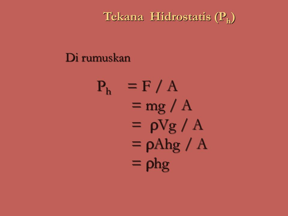 Tekana Hidrostatis (Ph)