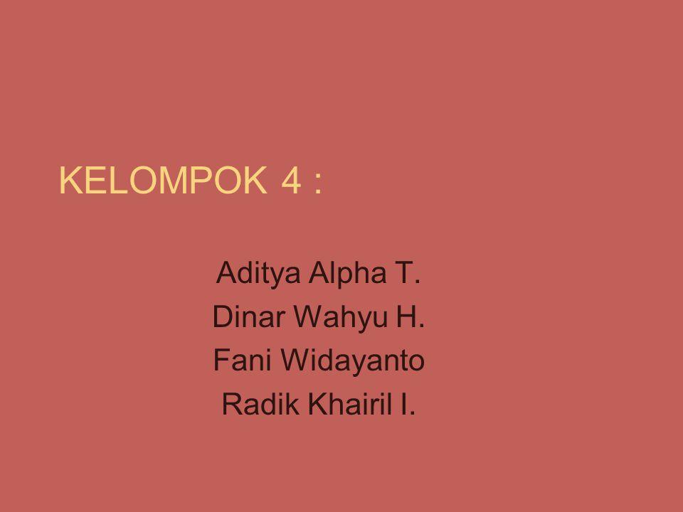 Aditya Alpha T. Dinar Wahyu H. Fani Widayanto Radik Khairil I.