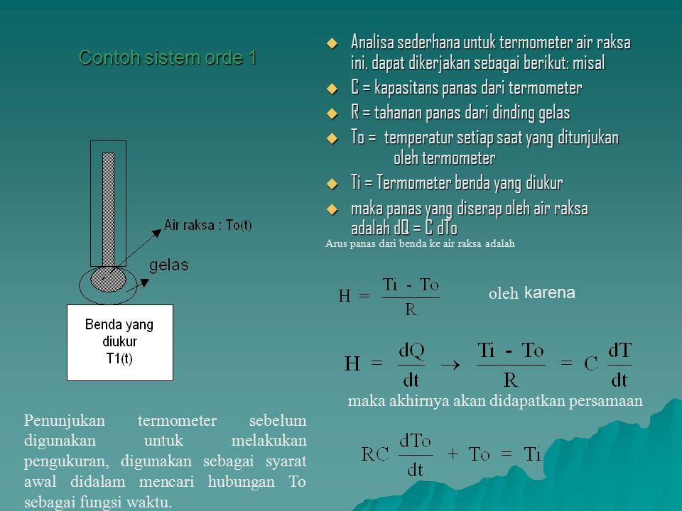 C = kapasitans panas dari termometer
