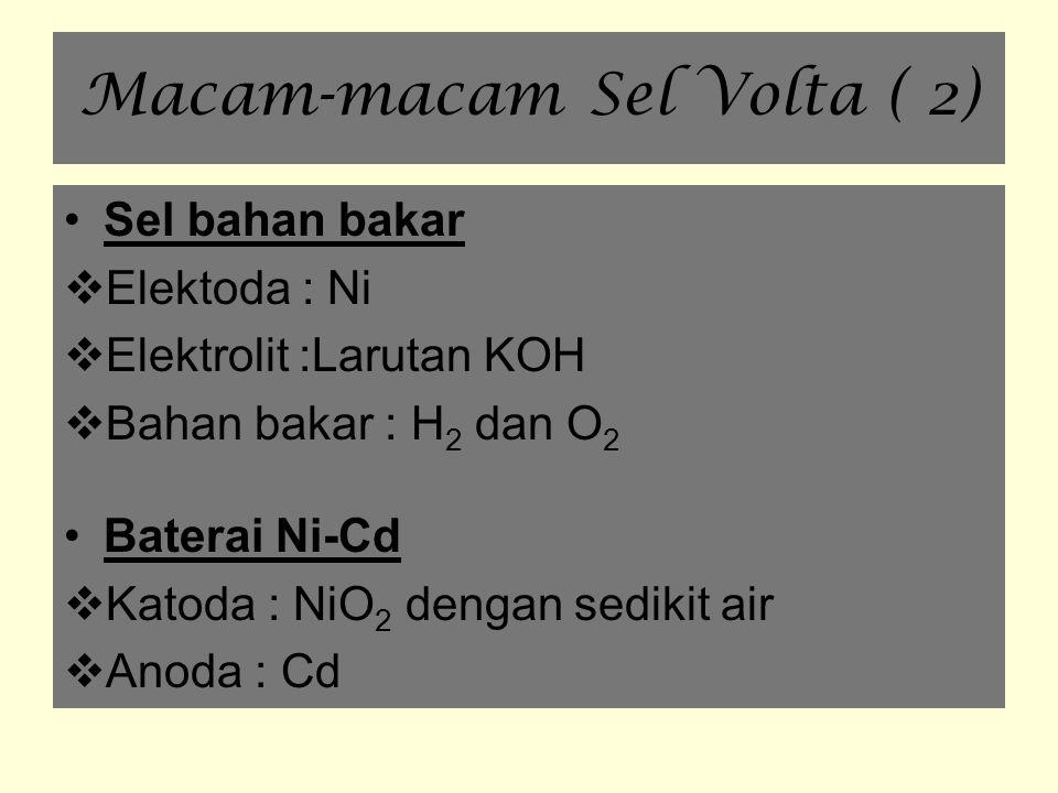 Macam-macam Sel Volta ( 2)