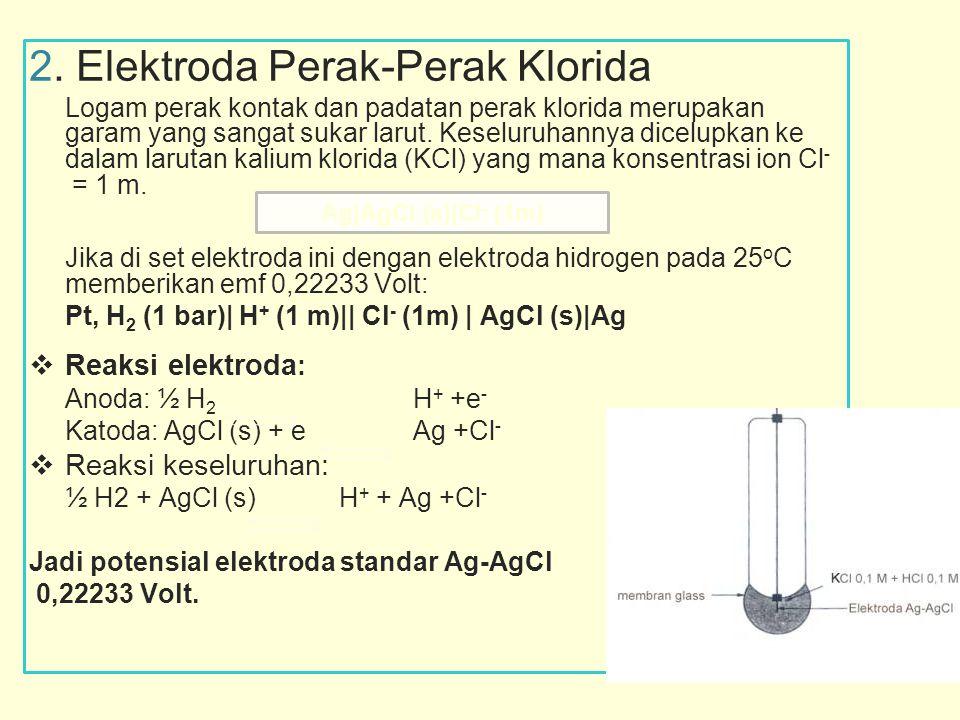 2. Elektroda Perak-Perak Klorida