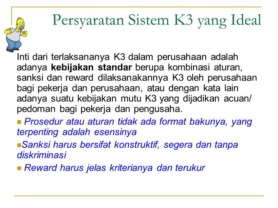 Persyaratan Sistem K3 yang Ideal