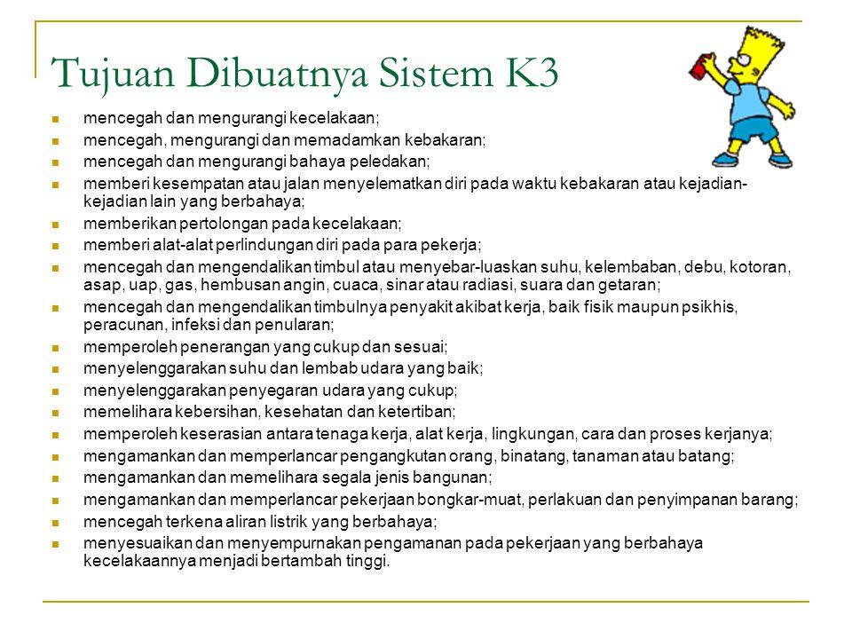 Tujuan Dibuatnya Sistem K3