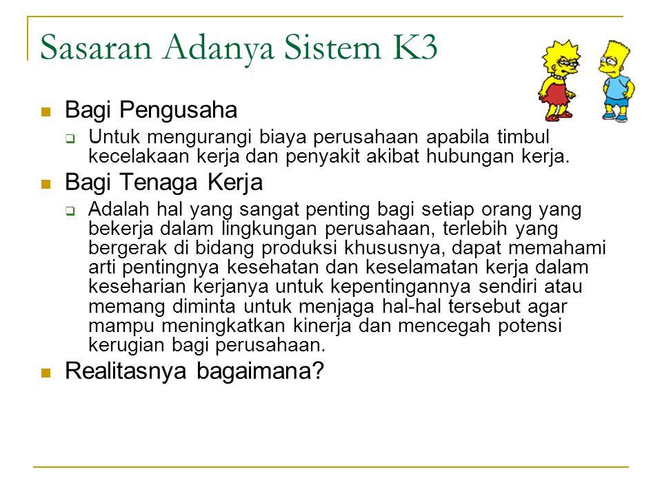 Sasaran Adanya Sistem K3