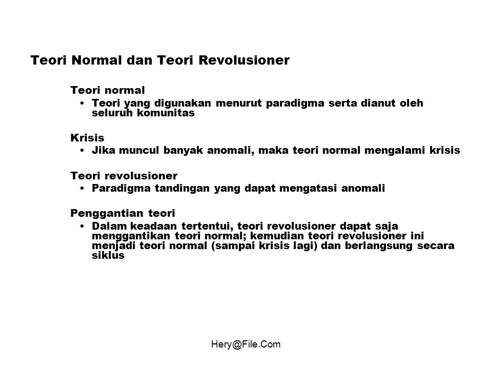 Teori Normal dan Teori Revolusioner