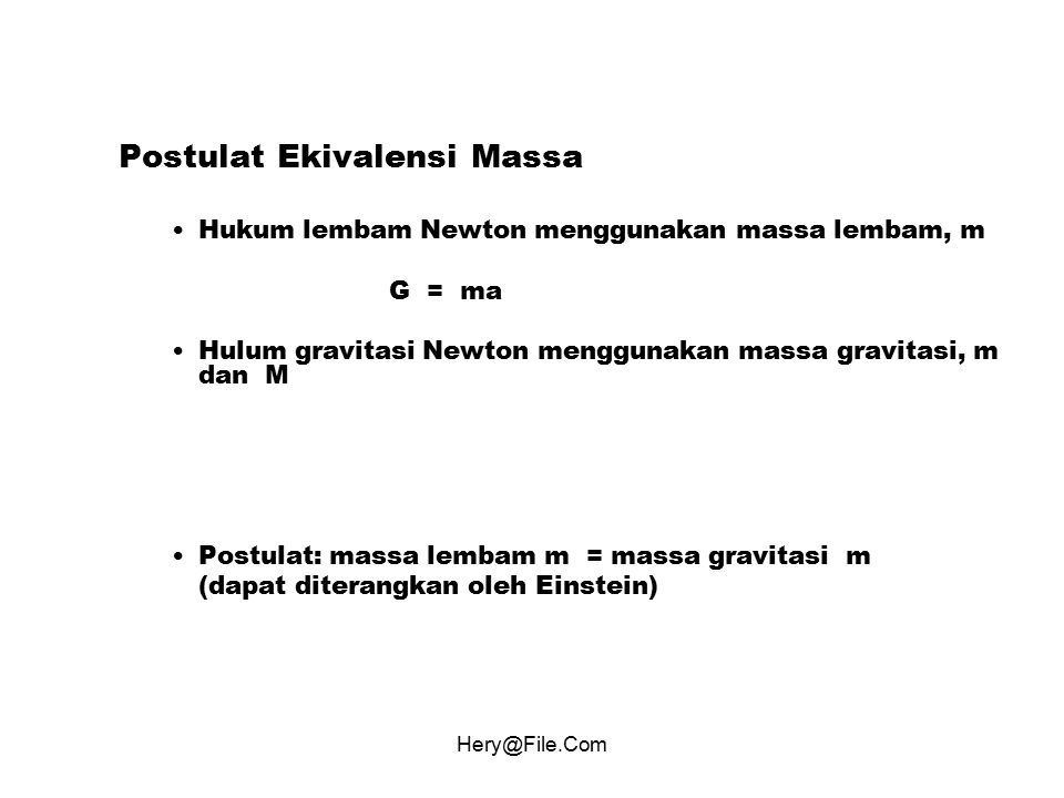 Postulat Ekivalensi Massa