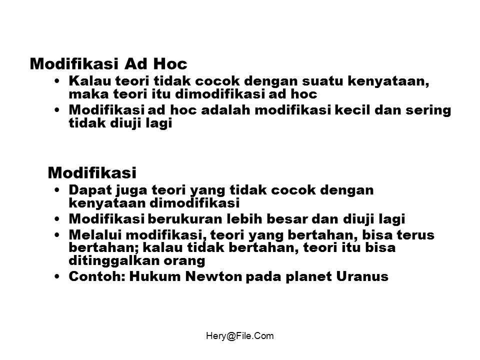 Modifikasi Ad Hoc Modifikasi