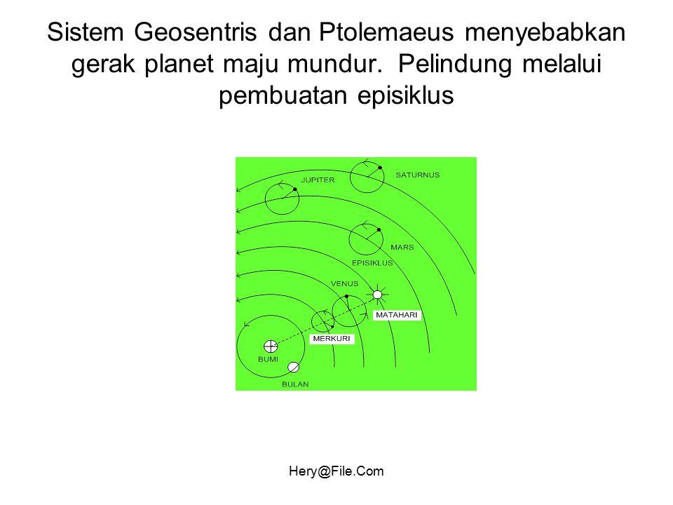 Sistem Geosentris dan Ptolemaeus menyebabkan gerak planet maju mundur
