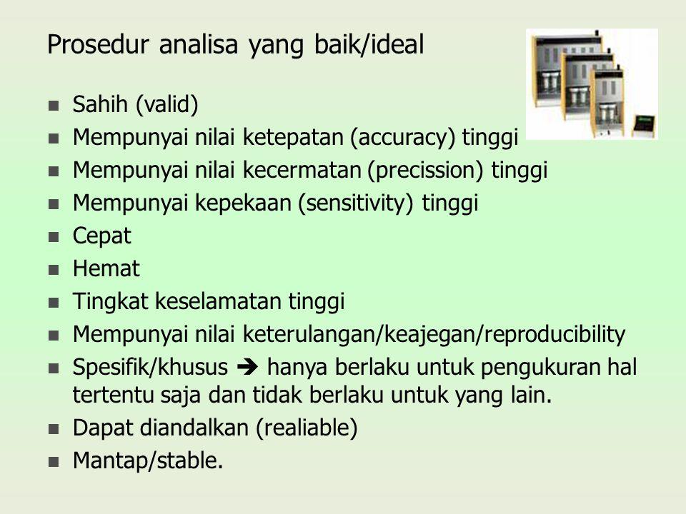Prosedur analisa yang baik/ideal