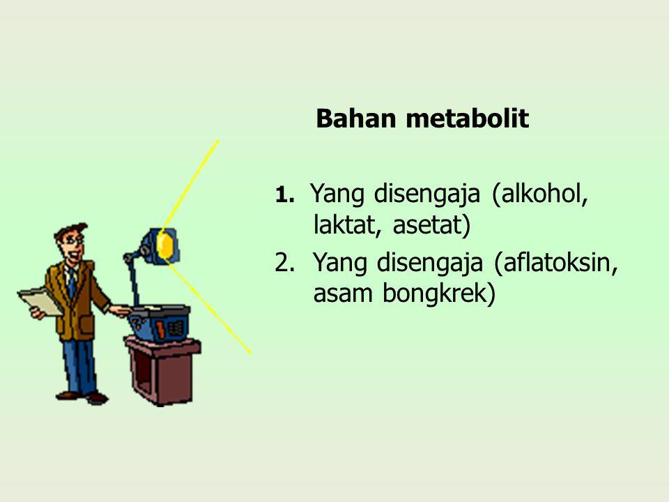 2. Yang disengaja (aflatoksin, asam bongkrek)