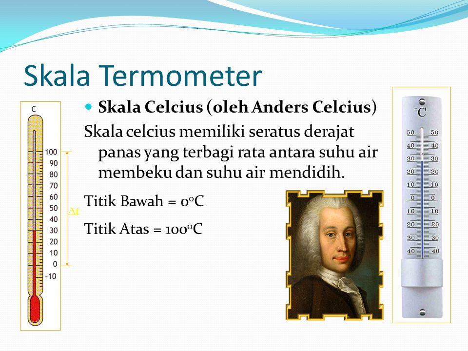 Skala Termometer Skala Celcius (oleh Anders Celcius)