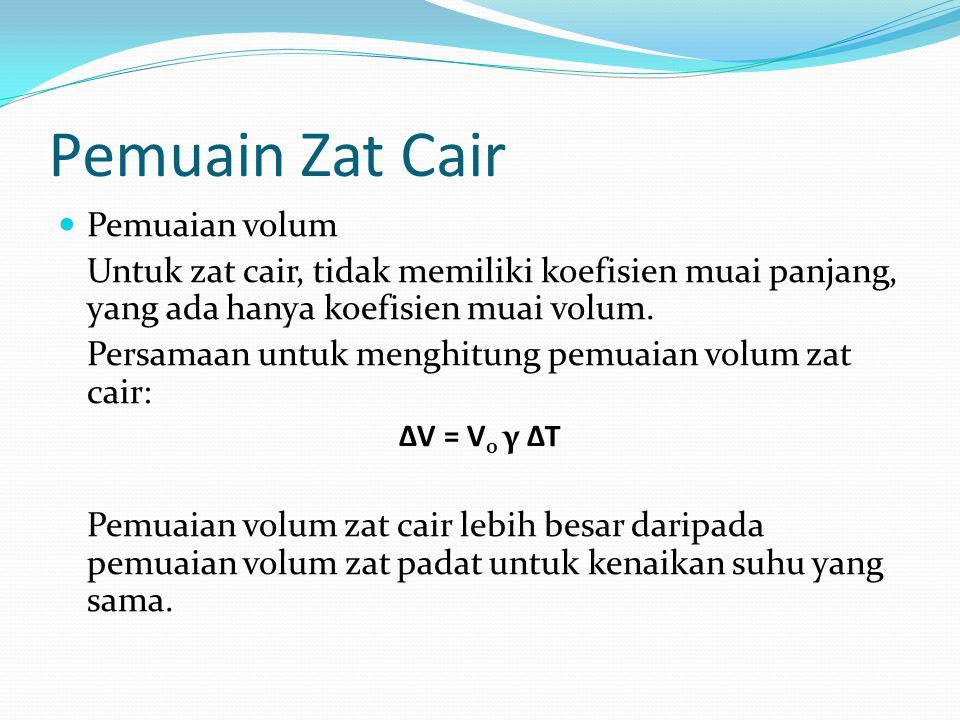 Pemuain Zat Cair Pemuaian volum