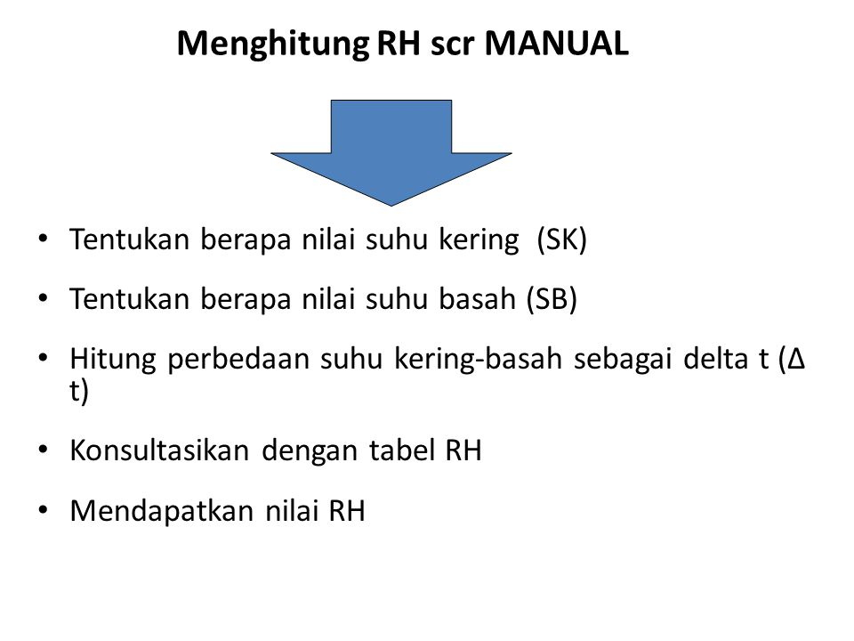 Menghitung RH scr MANUAL