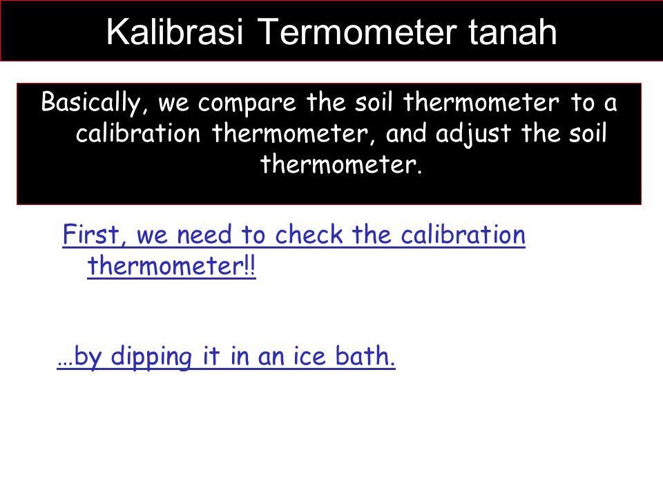Kalibrasi Termometer tanah