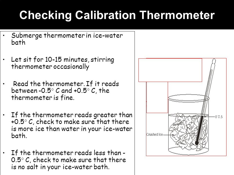 Checking Calibration Thermometer