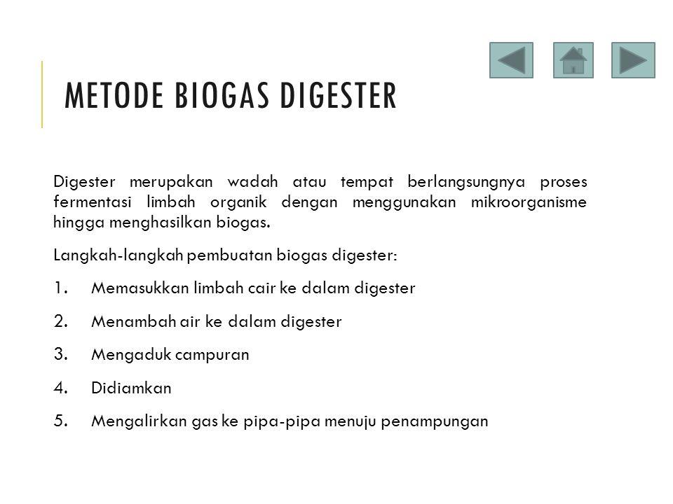Metode Biogas Digester