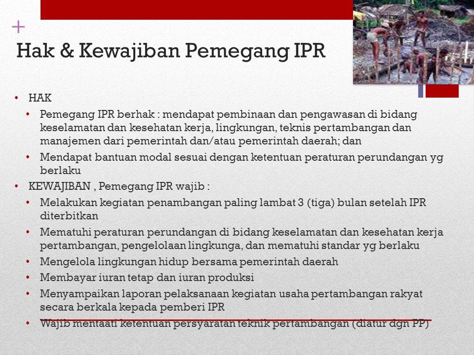Hak & Kewajiban Pemegang IPR