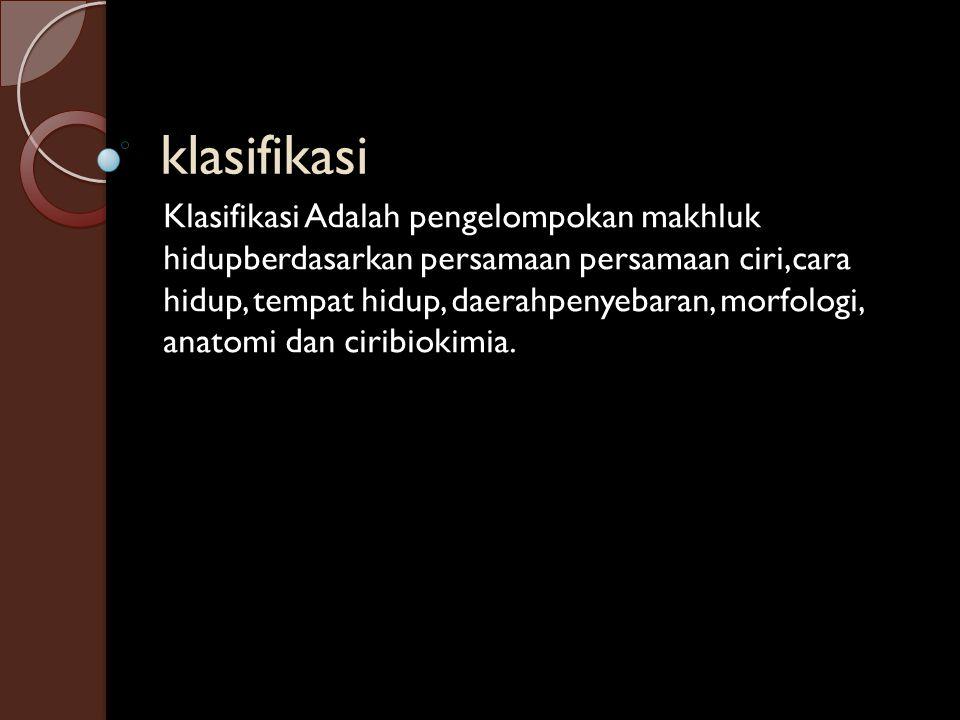klasifikasi