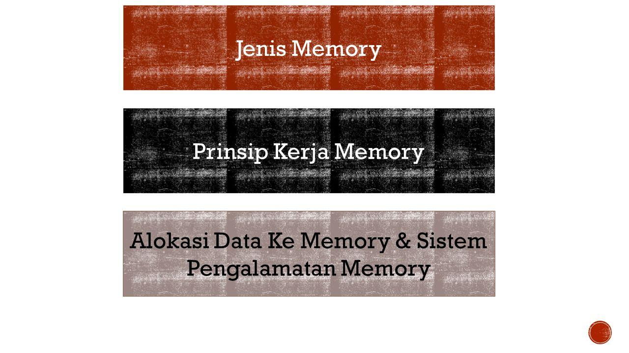 Alokasi Data Ke Memory & Sistem Pengalamatan Memory