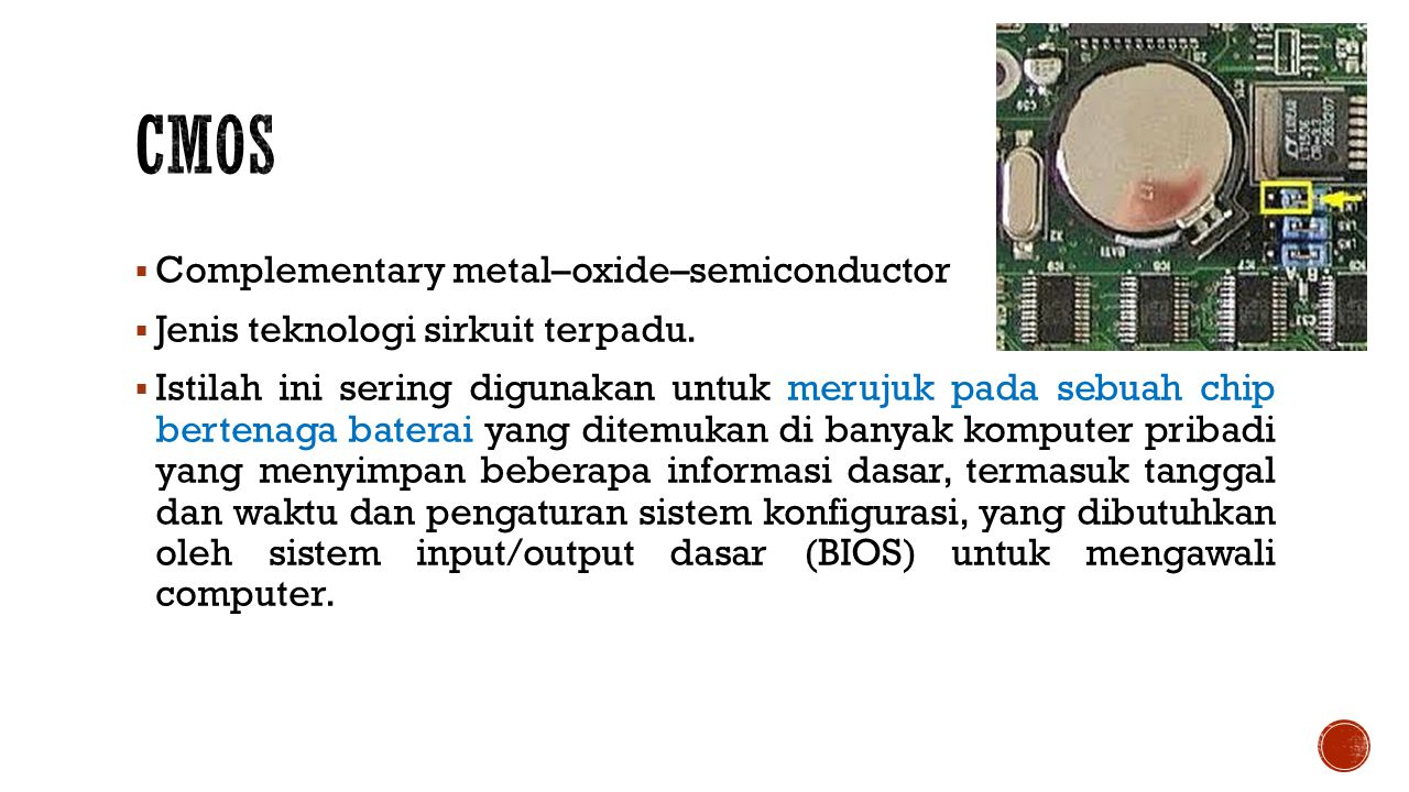 CMOS Complementary metal–oxide–semiconductor