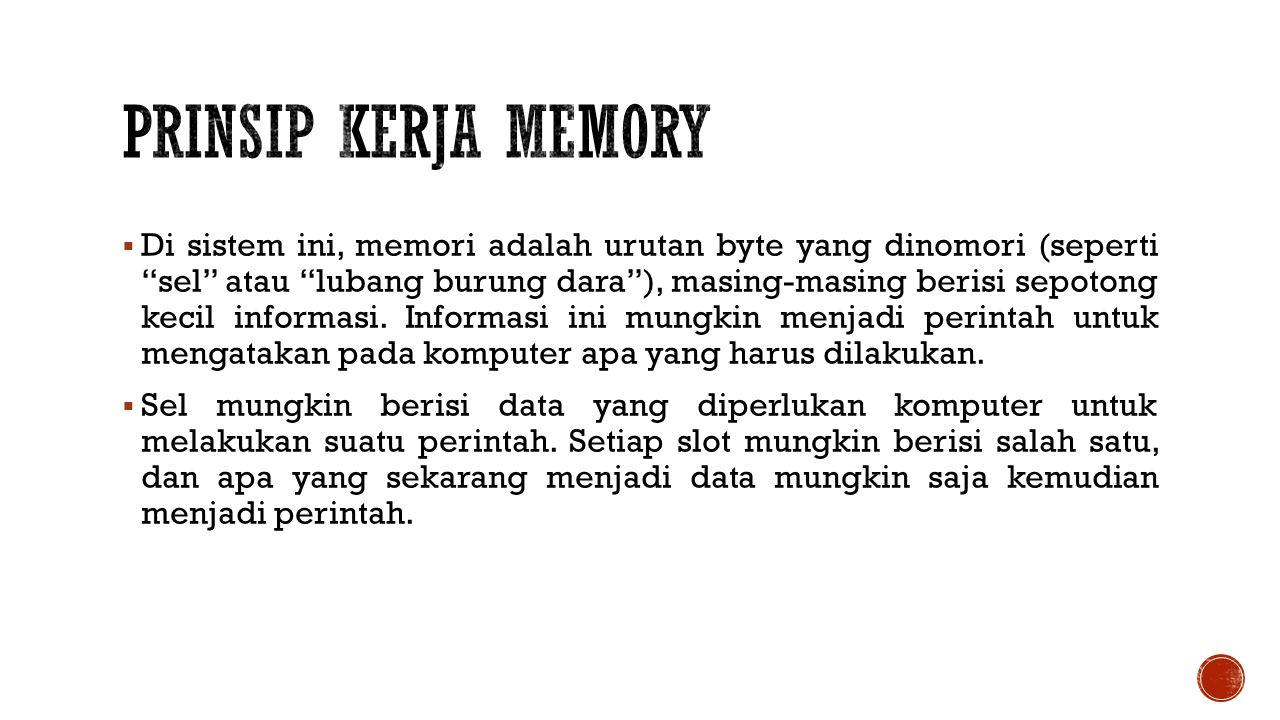 Prinsip Kerja Memory
