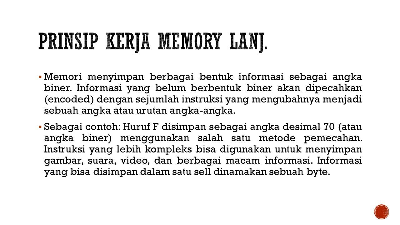Prinsip Kerja Memory Lanj.