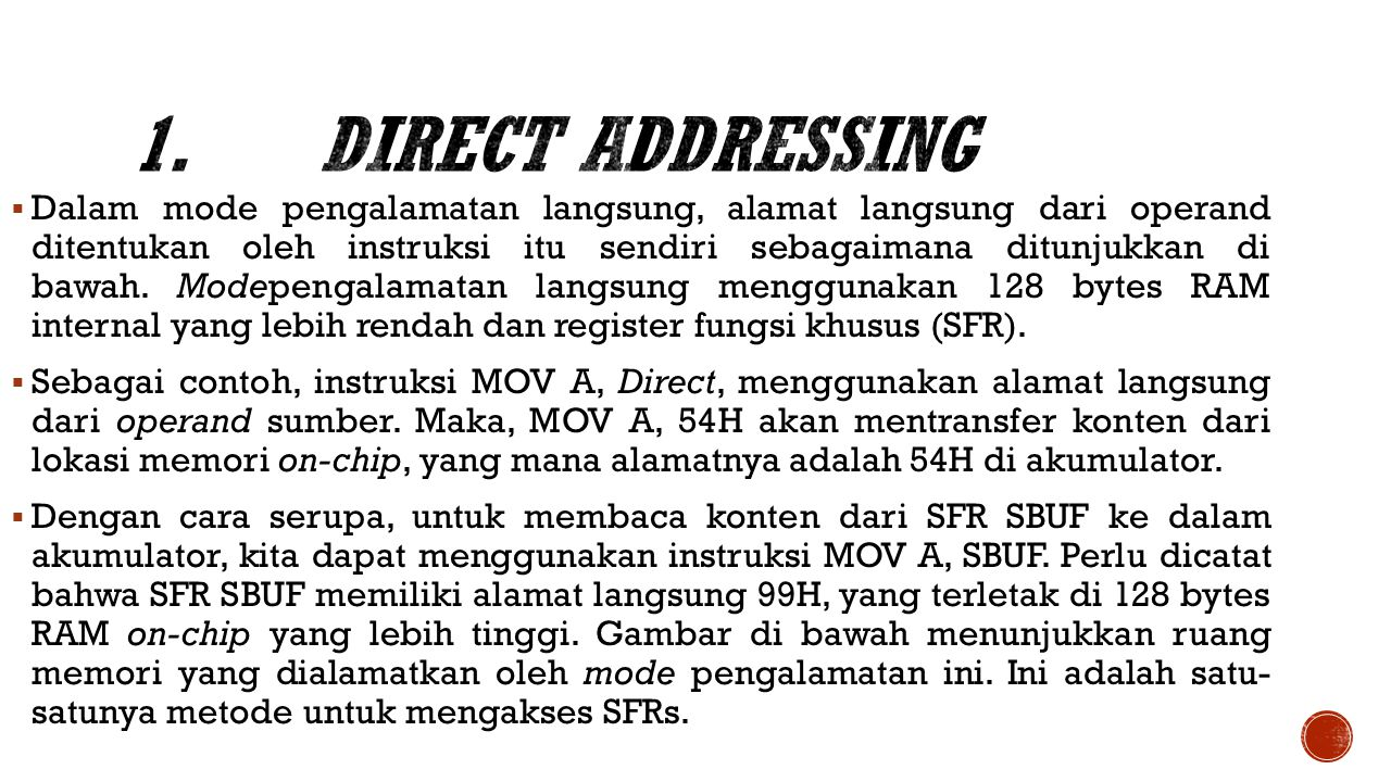 1. Direct Addressing