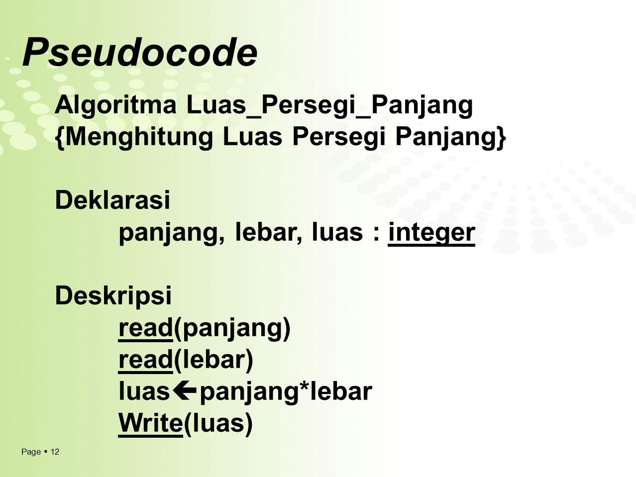 Pseudocode Algoritma Luas_Persegi_Panjang
