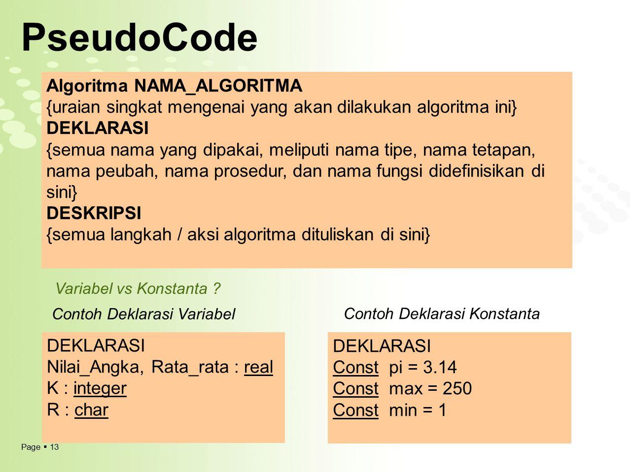 PseudoCode Algoritma NAMA_ALGORITMA