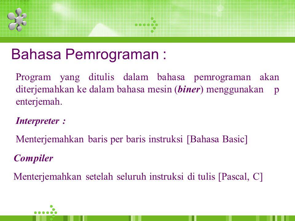 Bahasa Pemrograman :