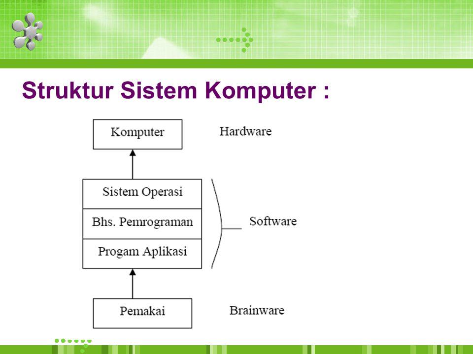 Struktur Sistem Komputer :