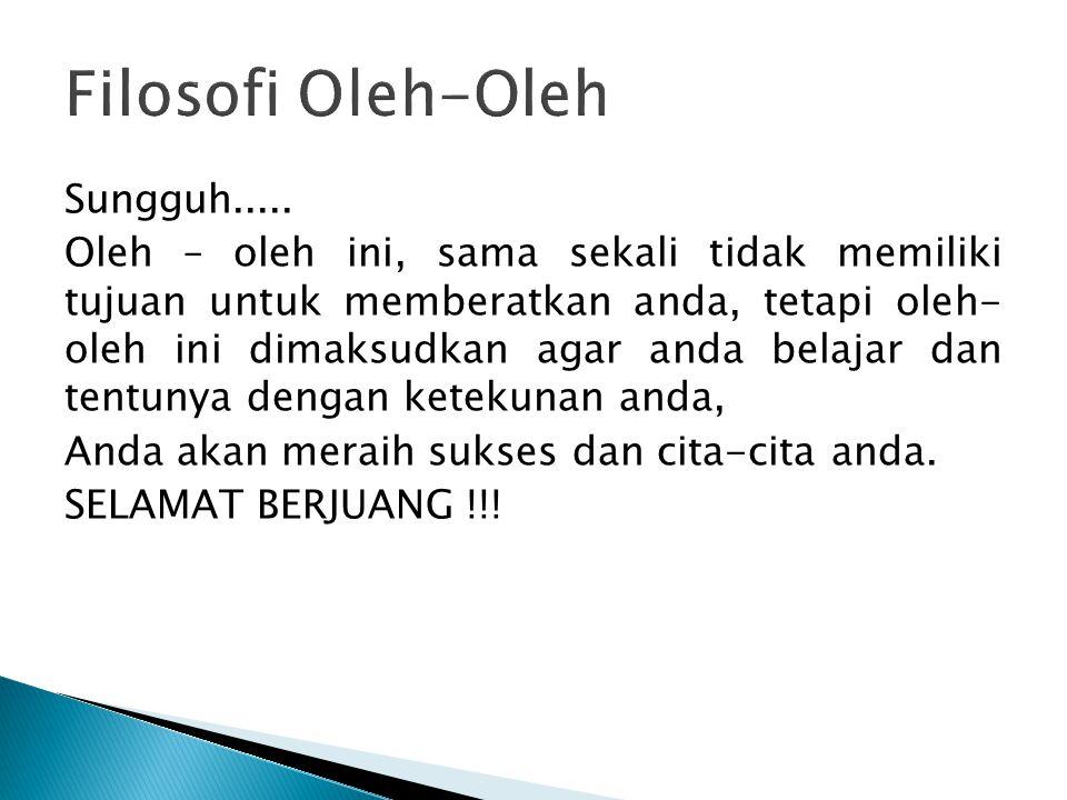 Filosofi Oleh-Oleh