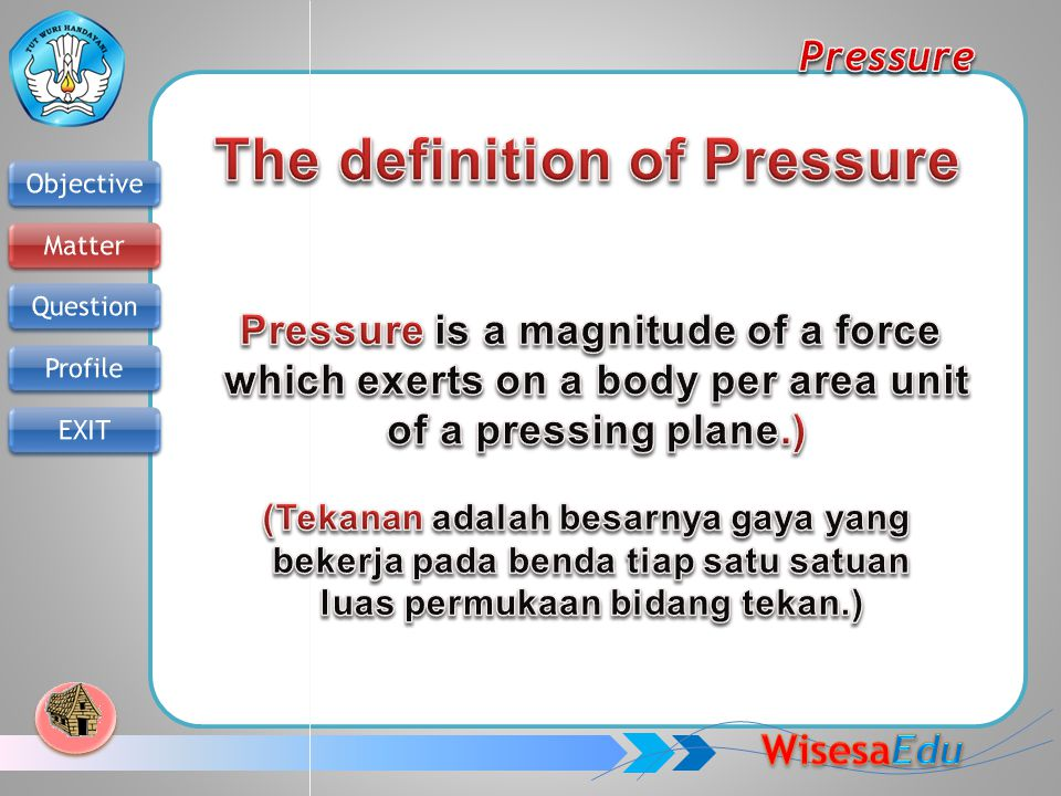 The definition of Pressure