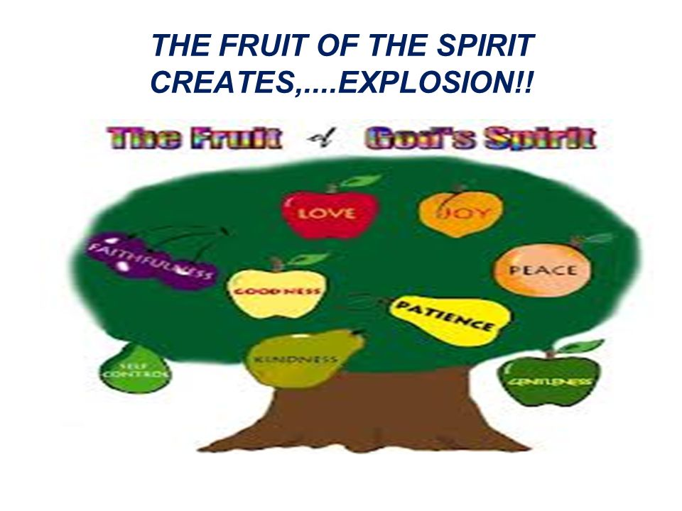THE FRUIT OF THE SPIRIT CREATES,....EXPLOSION!!