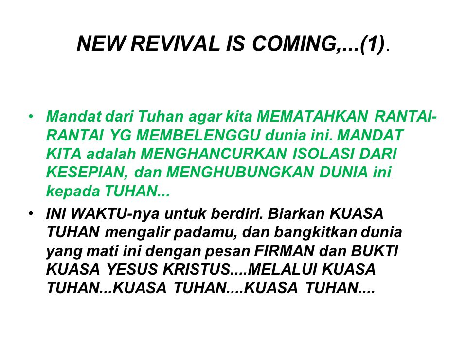 NEW REVIVAL IS COMING,...(1).