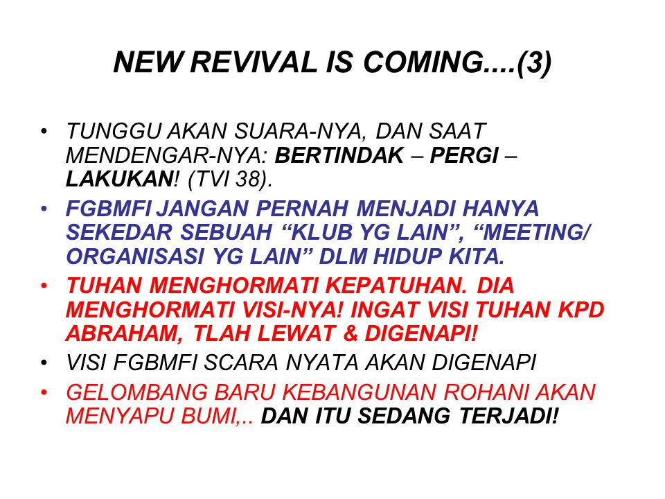 NEW REVIVAL IS COMING....(3)