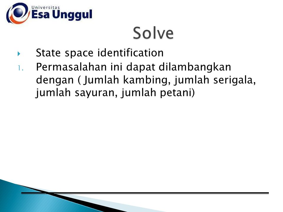 Solve State space identification