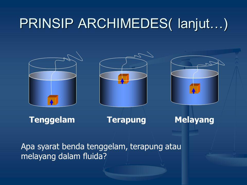PRINSIP ARCHIMEDES( lanjut…)